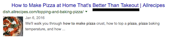 Search intent to get traffic writing on how to make pizza